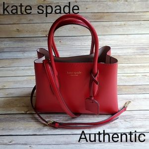 Kate Spade Eva Small Satchel Leather Red wkru5697